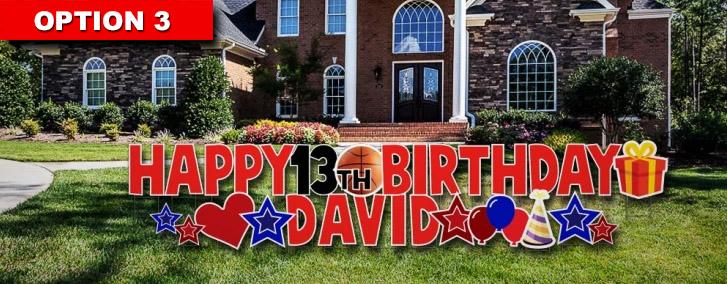 Happy Birthday Yard Card Signs Austin Tx Birthday Yard Greeting Signs Birthday Party Yard Sign